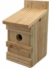 Naturelkleurige Garden Spirit - Vogelhuisje leuk om te schilderen - Nestkast Vlonderhout Naturel - Pimpelmees