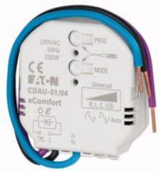 Grijze EATON Industries XComfort 230V LED Dimmer, CDAU-01/04 Smart, Draadloos, 0-250W
