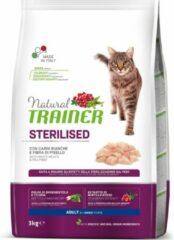 Natural trainer cat sterilised white meat kattenvoer 3 kg