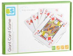 BS Toys gigantische speelkaarten 37 x 26 cm 54-delig blauw