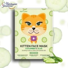 Montagne 7Th Heaven - Face Food Kitten Face Mask Soothing Mask In A Plough Softening And Moisturizing Score Cucumber & Aloe 1Pc