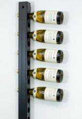 Ferro Duro Wijnrek voor aan de muur - geschikt voor 20 flessen - zwart - flessenrek