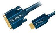 ClickTronic Casual Series Videokabel - HDMI / DVI - 3 m
