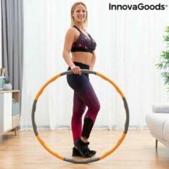 Innovagoods Santons Fitness - Fitness Hoelahoep - Verstelbaar (75 cm ⌀, 85 cm ⌀, 95 cm ⌀) - 1.1 KG - Oranje/Grijs