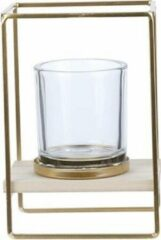 Cosy&Trendy Theelichthouder cube goud | 13x10xH19cm