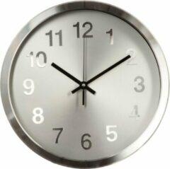 Licht-grijze Modernklokken.nl Design Wandklok Grijs 30 cm