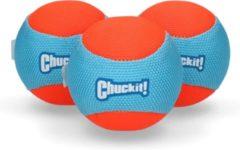 Blauwe Chuckit! Chuckit Amphibious Ball 3 pack 6 cm
