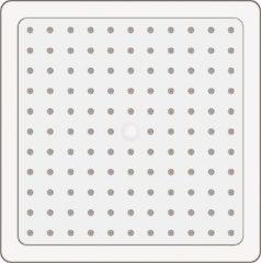 Allibert HIP hoofdregendouchekop - 1 jet - chroom - vierkant - 20 x 20 cm