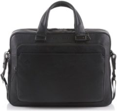 Zwarte Piquadro Black Square Briefcase 15 inch black