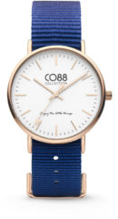 CO88 Collection Watches 8CW 10017 Horloge - Nato Band - Ø 36 mm - Donker Blauw