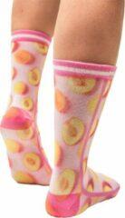 Sock My Feet - Grappige sokken dames - Maat 39-42 - Sock My Peach - Perzik sokken - Funny Socks - Vrolijke sokken - Leuke sokken - Fashion statement - Gekke sokken - Grappige cadeaus - Socks First.