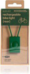 Bookman Block Fietsverlichting - LED Achterlicht - Oplaadbaar via USB - Compact Design - Groen