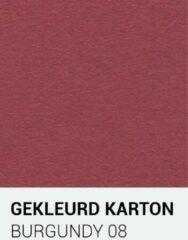 Donkerrode Gekleurdkarton notrakkarton Gekleurd karton burgundy 08 A4 270 gr.