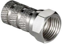 Zilveren Kabeldirect Konig F-connector met schroefbevestiging 5,0mm