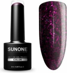 SUNONE UV/LED Hybrid Gel Glitter Nagellak 5ml. - M08 Mia