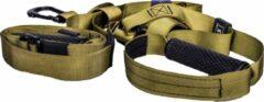 KIMO DIRECT TRX Suspension Trainer Pro met Draagtas - Anti Slip Hendels - Crossfit - Resistance Band - Mosgroen