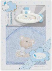 Interbaby Badaccessoires Love 100 Cm Katoen Blauw 2-delig