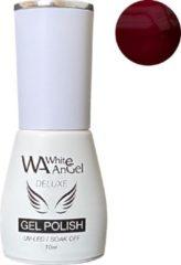 Paarse Gellex White Angel Gellex Deluxe Gel Polish, gellak, gel nagellak, shellac - Mahogony 094