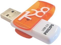 Bruine Philips FM12FD00B USB flash drive 128 GB USB Type-A 3.2 Gen 1 (3.1 Gen 1) Oranje, Wit