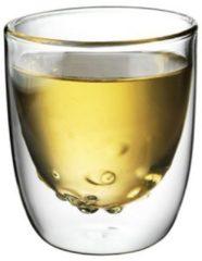 Transparante QDO Elements - Koffie- en theeglazen - Set van 2 Dubbelwandige Glazen - Water - 210ml