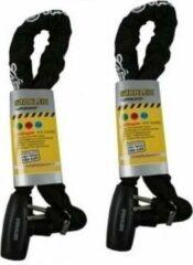 Zwarte Lifetime Wheels 2x Stevige scootersloten / motorslot 10 x 900 mm - Slot geschikt voor fiets / brommer / snorfiets