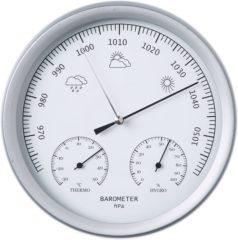 Zilveren Nature Natuture 3-in-1 Barometer met thermometer en hygrometer 20 cm 6080081