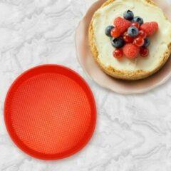 Rode Merkloos CE EIZOOKSHOP Taart bodem bakvorm rond -10-12 personen inclusief Afkoelrooster en Taartsnijder