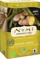 Groene Thee - Cafeinevrije - Decaf Ginger Lemon van Numi (3 doosjes thee)