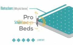 Witte Pro Sleep Beds - T-Latex Topper - 180x-200 - 5cm