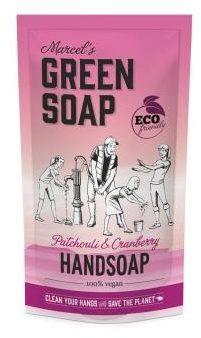 Afbeelding van Marcel's Green Soap Marcel's groen Soap Handzeep Patchouli&Cranberry Navul Stazak 500 ml