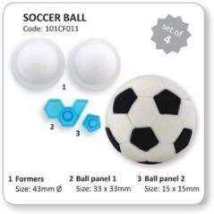 Witte PME Legend Steker Soccer Ball JEM, set van 4