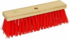 Rode Straatbezem RALTEC 40cm rood kunststof vezel PPN