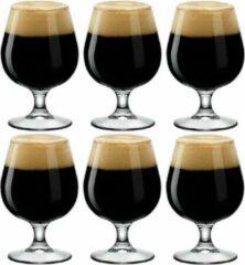 Transparante Bormioli Rocco 6x Bierglazen/bierbokalen 530 ml - Bierglazen voor speciaalbier/bokbier/lentebier 6 stuks