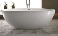 Vrijstaand Bad Luca Sanitair Vasca 180x93x56cm Solid Surface Mat Wit