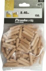Piranha Deuvels, 150 stuks, 40mm lengte 8mm