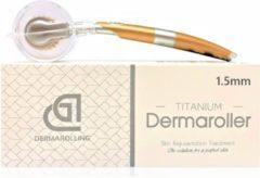 Witte Dermarolling DNS Dermaroller 192 naalden - 1.5mm titanium naalden