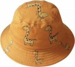 Junglestories Bucket Hat Kind Giraffe Oranje Zonnehoedje Zomer Hoedje Emmer