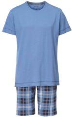 Kurz-Pyjama mit karierter Hose Jockey Star Blue