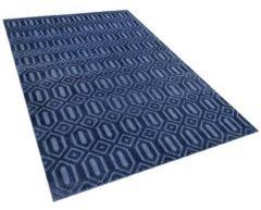 Blauwe Beliani Adatepe Vloerkleed Viscose 140 X 200 Cm