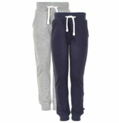 Blauwe Minymo - Kid´s Basic 36 -Sweat Pant (2-pack) maat 134 blauw