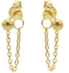 Karma Jewelry Karma Oorbellen Chain Ball Goud