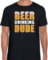 Bellatio Decorations Oktoberfest - Beer drinking dude drank fun t-shirt zwart voor heren - bier drink shirt kleding 2XL
