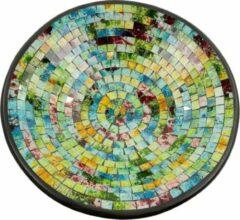 Fairtrade uit Indonesie Kom Mozaïek Zachte Kleuren Multicolor (37 cm)