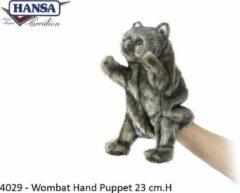 Grijze Hansa Creation Wombat handpop 4029 lxbxh = 19x15x23cm