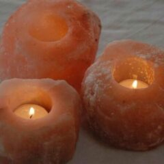 Varada Himalaya waxinelichthouder - Roze - 3 stuks