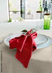 Mistral Home - set van 4 servetten - katoen polyester - 43x43 cm - rood