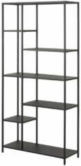 Lisomme industriële boekenkast Roy - Metaal - 5 planken - Zwart