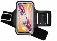 Merkloos / Sans marque Zwart Sportarmband Huawei P20 Lite - Zwart / Black