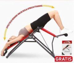 Rode MediaShop Backlounge | 2-in-1 rug inversietrainer | Inversiebank | Rekken en Strekken van de wervelkolom | Tot 110 kg dynamisch, 250 kg statisch belastbaar | Geïntegreerde massagerollers | Inklapbaar