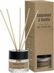 Transparante Cosy&Trendy Cosy & Trendy Geurstokjes 50ml - Cedarwood Vanilla - Ø6,3x(H)21cm